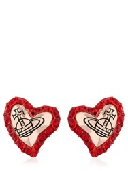 Vivienne Westwood Zita Heart Stud Earrings
