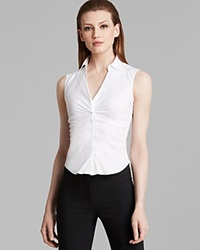 Armani Collezioni Top Sleeveless V Neck White