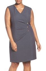 Ellen Tracy Plus Size Women's Stretch Sheath Dress Charcoal