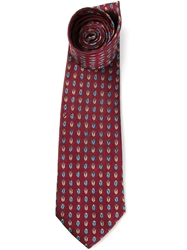 Pierre Cardin Vintage Jacquard Patterned Tie Red