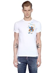 Dsquared2 Sexy Slim Printed Cotton Jersey T Shirt