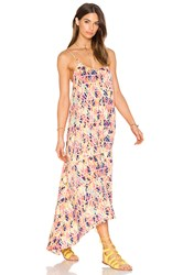 Pink Stitch Resort Maxi Dress Orange