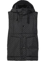 Engineered Garments Polka Dots Hooded Gilet Black