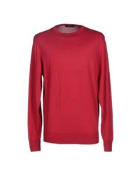 Alpha Massimo Rebecchi Knitwear Jumpers Men Garnet