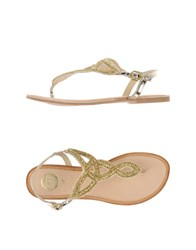 Gioseppo Footwear Thong Sandals Women Yellow