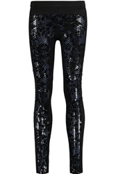 Just Cavalli Embellished Stretch Jersey Leggings