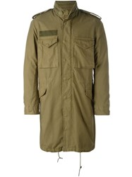 R 13 R13 Pocketed Military Coat Green