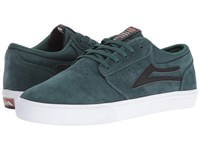 Lakai Griffin Pine Black Suede Men's Skate Shoes Green