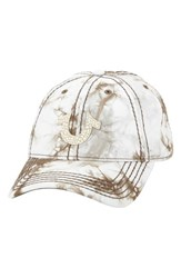 Men's True Religion Brand Jeans Marble Dye Baseball Cap Green Sequoia