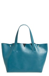 Vince 'Signature Collection' Leather Tote Lake