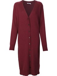 Alexander Wang T By Oversized Cardigan Red