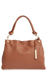 Vince Camuto 'Ruell' Leather Shoulder Bag Brown Russet