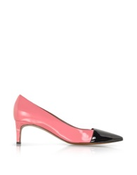 Marni Color Block Patent Leather Pump Pink
