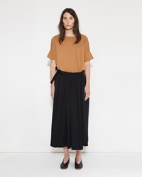 Christophe Lemaire Jersey Wrap Over Skirt Black