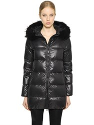 Duvetica Kappadue Shiny Nylon Down Jacket W Fur