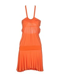Frankie Morello Dresses Short Dresses Women Orange