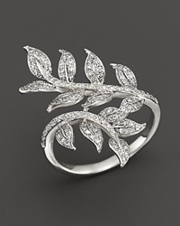 Bloomingdale's Diamond Leaf Ring In 14K White Gold .50 Ct. T.W.