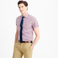 Thomas Mason For J.Crew Ludlow Short Sleeve Shirt In Red Tattersall
