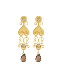 Stephanie Kantis Antiquity Smoky Topaz Dangle Earrings