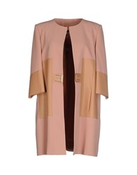 Elisabetta Franchi Coats And Jackets Full Length Jackets Women Skin Color
