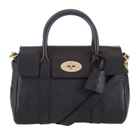 Mulberry Small Bayswater Leather Satchel Bag Black