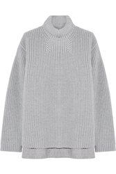 Rochas Ribbed Wool And Angora Blend Sweater