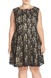 Plus Size Women's Gabby Skye Lace A Line Dress