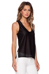 Shades Of Grey Split Side Tank Black