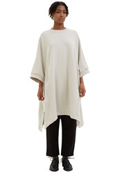 Kowtow Place To Be Oversized Jersey Cape Sweater Grey