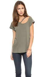 Lna Desert Ripped Neck Tee Weeds
