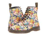 Dr. Martens Castel Toon 8 Eye Boot White At All Character Print T Canvas Lace Up Boots Multi