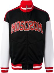 Moschino Varsity Logo Teddy Jacket Black