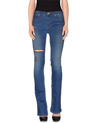 Hudson Denim Denim Trousers Women Blue