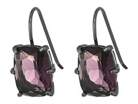 Lauren Ralph Lauren Mad About Hue Small Faceted Stone Drop Earrings Berry Hematite Earring Red