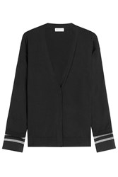 Brunello Cucinelli Cotton Cardigan With Embellished Cuffs Black