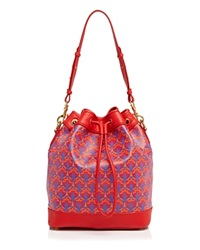Liberty London Liberty Of London Argyl Bucket Bag Red