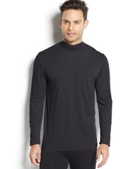 32 Degrees Heat By Weatherproof Thermal Long Sleeve Mock Neck Charcoal