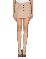 M.Grifoni Denim Mini Skirts Beige