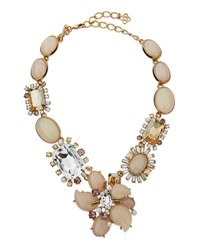 Oscar De La Renta Bold Multi Crystal Statement Necklace Soft Petal