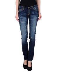 Sun 68 Denim Denim Trousers Women Blue