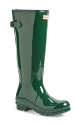 Women's Hunter Adjustable Back Gloss Rain Boot Hunter Green
