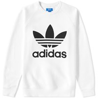 Adidas Original Trefoil Crew Sweat White