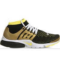 Nike Air Presto Ultra Flyknit And Rubber Trainers Black Yellow Gold