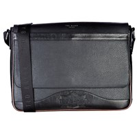 Ted Baker Caleb Embossed Messenger Bag Black