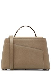 Valextra Twist 3 Leather Tote Beige