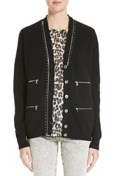 Marc Jacobs Women's Zip Detail Wool Cardigan