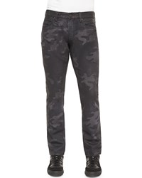Ralph Lauren Black Label Camo Print Slim Fit Jeans Black