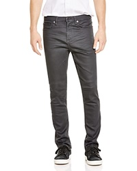 Blank Coated Slim Fit Jeans In Grey