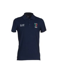 Emporio Armani Ea7 Polo Shirts Dark Blue