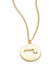 Kate Spade State Of Mind Massachusetts Pendant Necklace Gold